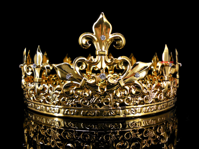 Men S Imperial Medieval Fleur De Lis Gold King Crown 8 5cm